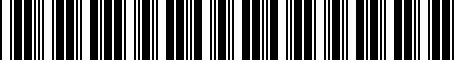 Barcode for 7410202140