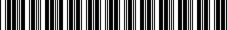 Barcode for 9098114004