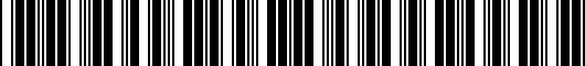 Barcode for PT9080312020