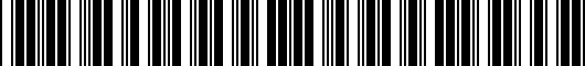 Barcode for PT92203120AA