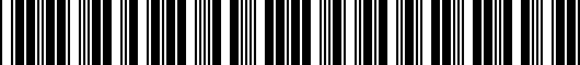 Barcode for PT9360312006