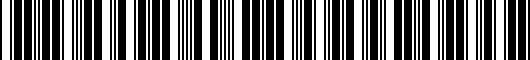 Barcode for PT9360312021