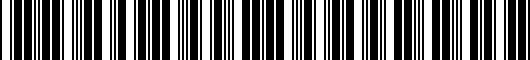 Barcode for PT9380312004