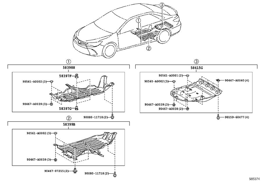 Diagram FLOOR PAN & LOWER BACK PANEL for your 2014 Toyota Camry
