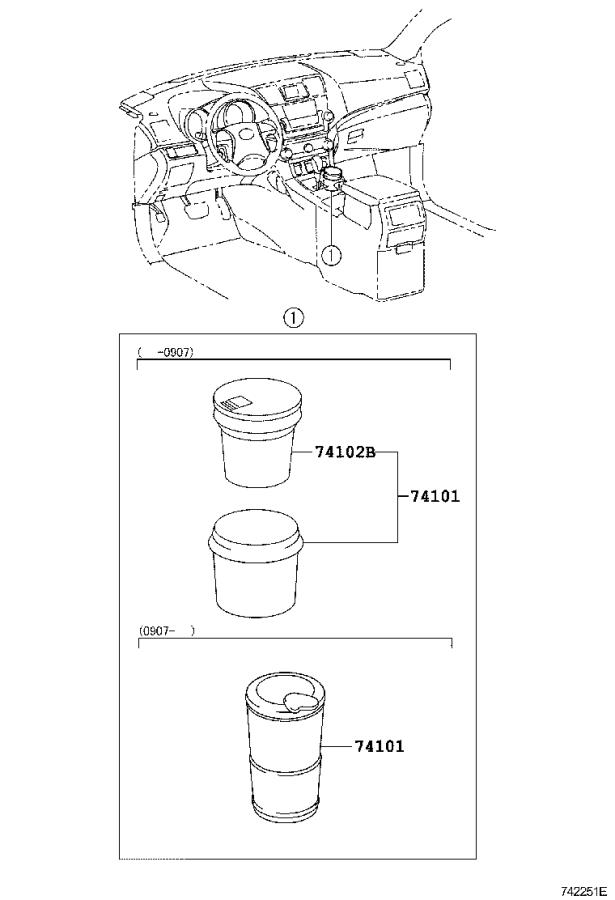 Diagram ASH RECEPTACLE for your 2014 Toyota Camry