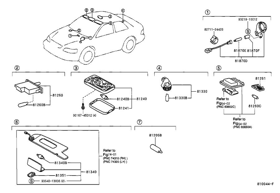 Diagram INTERIOR LAMP for your Toyota Camry