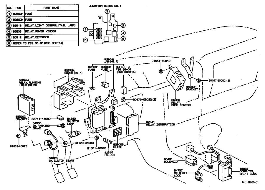 Diagram SWITCH & RELAY & COMPUTER for your 1996 Toyota Camry
